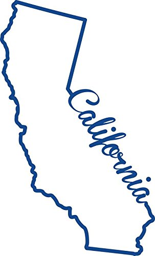 - ND245B California State Decal Sticker | 7-Inches By 4.2-Inches | Premium Quality Blue Vinyl