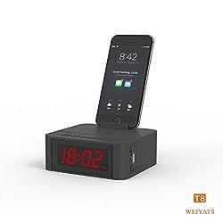 Alarm Clock, SmartSet Alarm Clock Radio with Bluetooth Speaker, hands free (Black)