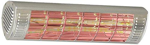 Casafan CasaTherm LowGlare Gold - IP65 Stufa infrarossi, 2.000 W, argento 70026