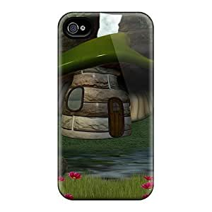 Fashion Tpu Case For iphone 5 5s - Green Mushroom House Defender Case Cover