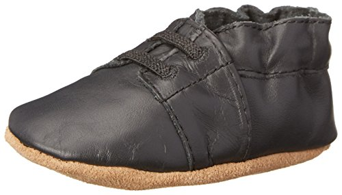 Robeez Special Occasion Crib Shoe (Infant), Black, 6-12 Months M US Infant