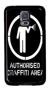 carry Samsung S5 cover Authorized Graffiti Area Funny PC Black Custom Samsung Galaxy S5 Case Cover