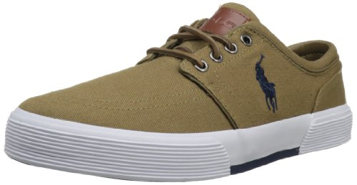 Polo Ralph Lauren Men's Faxon Low Fashion Sneaker,Umber/Worth Navy,9 M US