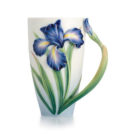Iris Porcelain - Franz Collection Porcelain Eloquent Iris Flower Mug