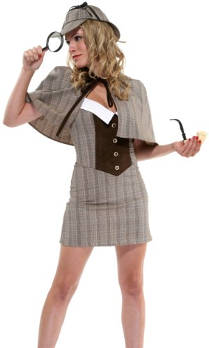 Forplay Women's Private Eye Costume Set, Brown, Medium/Large]()