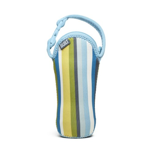 Built Bottle Buddy One Bottle Tote, In Baby Blue Stripe
