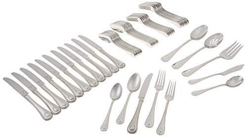 Lenox 65-Piece French Perle Flatware Set , Silver - 829739