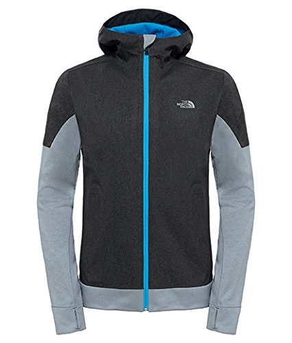 North Face Running Jacket (The North Face Men's kilowatt Jacket TNF Dark Grey Heather/Blue Aster Size X-Large)