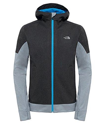 North Face Running Jacket (The North Face Men's kilowatt Jacket TNF Dark Grey Heather/Blue Aster Size X-Large)