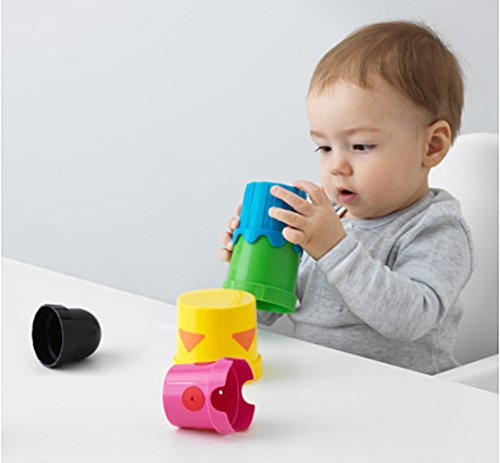 Image: IKEA Mula Stack and Nest Cups | Children Developmental Toy | A variety of different activities: build, put together a puzzle, scoop water or bake sand cakes