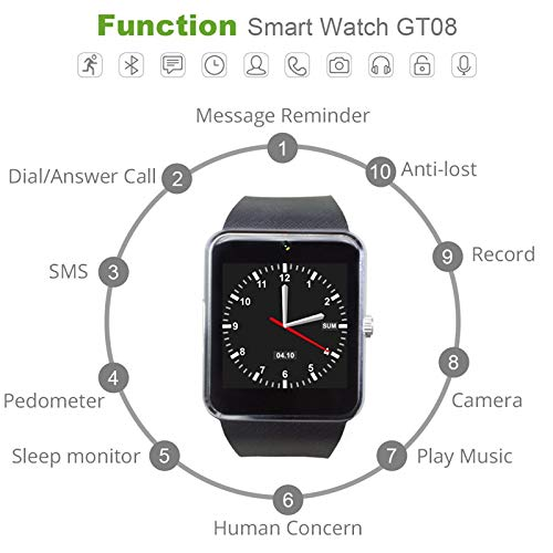 Amazon.com: XINHUANG 2019, reloj inteligente con Bluetooth ...