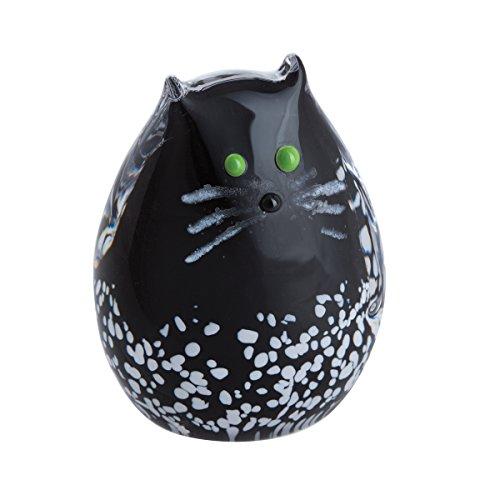 Caithness Glass Purrfect Black & White Kitten