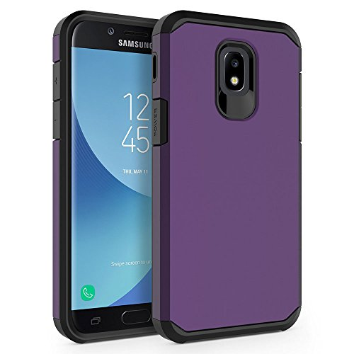 Case for Samsung Galaxy J3 2018 / J3 V 3rd Gen / J3V 2018 / J3 Orbit / J3 Star / J3 Achieve/Express Prime 3 / Amp Prime 3 / Sol 3 / J3 Aura, SYONER [Armor] Protective Phone Case Cover [Purple]
