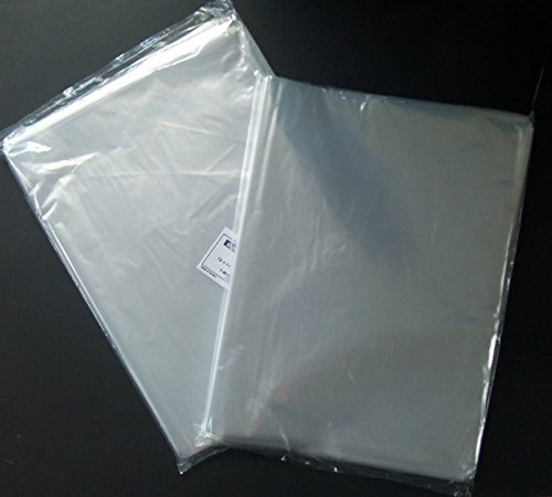 200 CLEAR 14 x 20 POLY BAGS LARGE PLASTIC 1 MIL FLAT OPEN TOP LARGE BAGS (Open Poly Bags Top)
