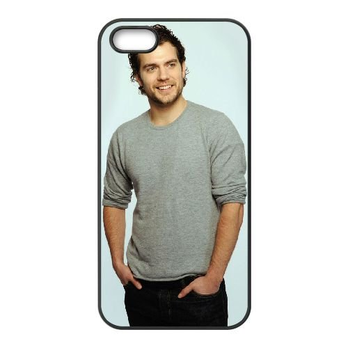 Henry Cavill coque iPhone 4 4S cellulaire cas coque de téléphone cas téléphone cellulaire noir couvercle EEEXLKNBC25713