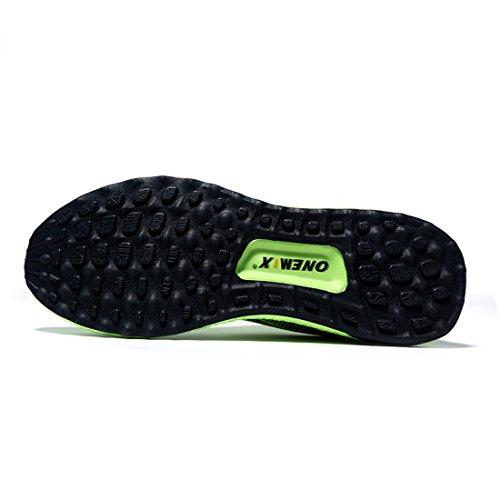 Onemix Zapatillas de Running para Asfalto para Hombre Verde Fluorescente