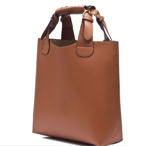 BestDealUSA Vintage Stylish Celebrity Faux Leather Tote Shopping Bag HandBags Adjustable Band, Bags Central