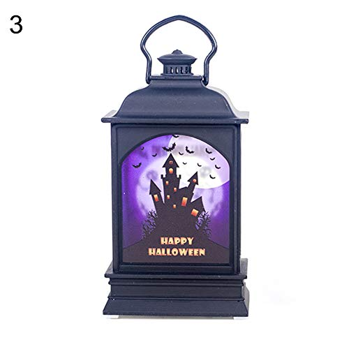Afco Surprise Day Creative Witch Pumpkin Print Hanging LED Lantern Light Party Halloween Decor Haunted House# -
