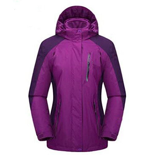 Plus Velluto Fertilizzante Large Lai Ladies Wear Mountaineering One Mezza Viola Di Aumenta Three Spesso Wu Extra Outdoor Giacche Età In 80wtxqxI