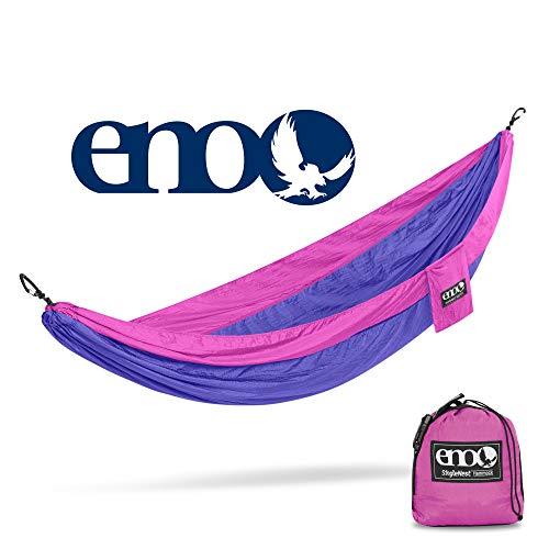 ENO - Eagles Nest Outfitters SingleNest Hammock, Portable Hammock for One, Purple/Fuchsia