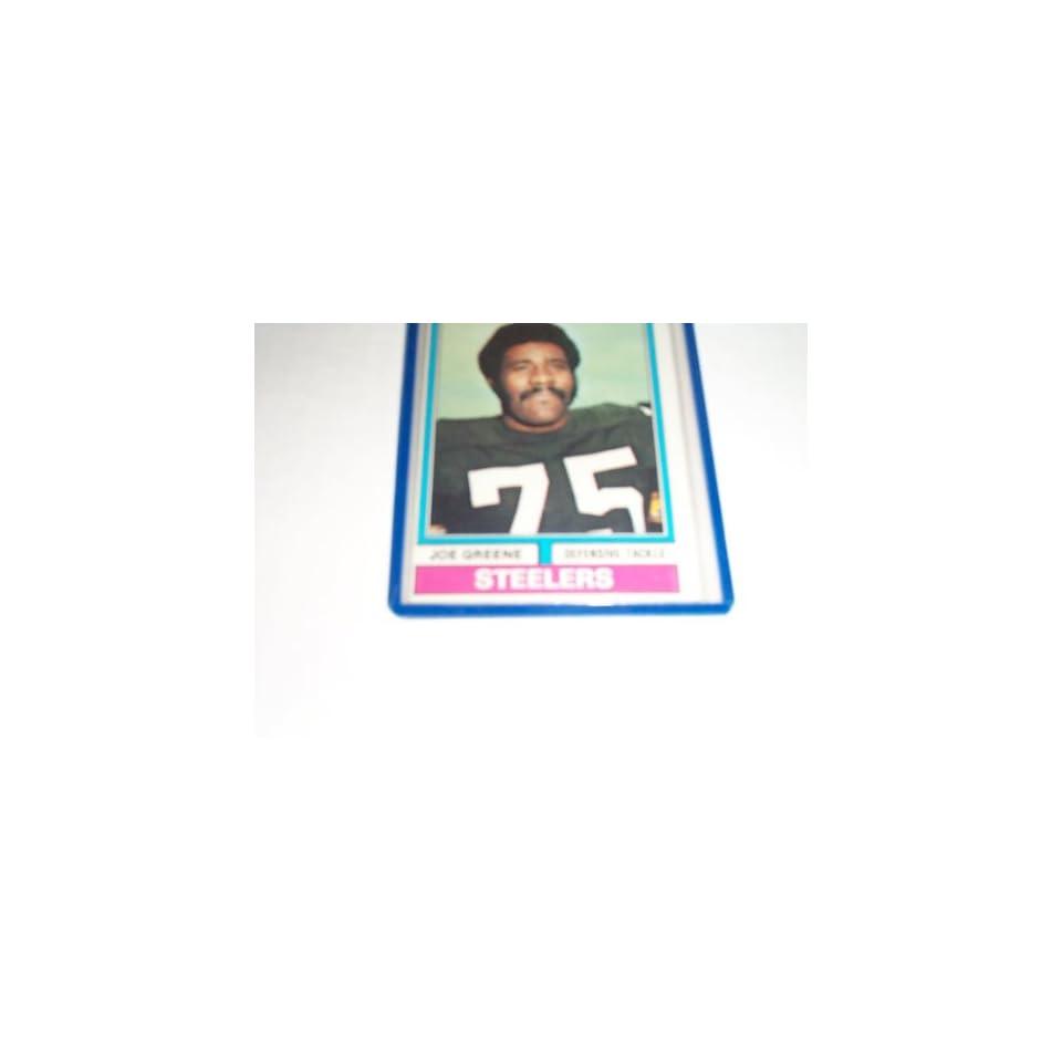 Joe Greene 1974 topps football trading card #40 Pittsburgh Steelers