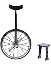 lahomia 1/10 Miniature Unicycle Model with Support Toy for Decoration