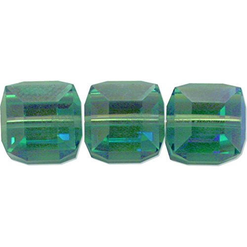 3 Erinite AB Square Cube Made With Swarovski Crystal Beads 8mm ()