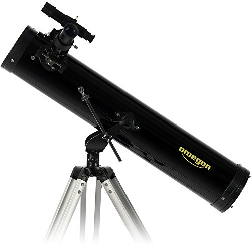 Omegon N 76/700 AZ-1 Reflector Telescope with 76mm Aperture and 700mm Focal Length ()