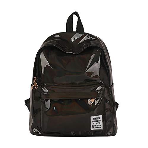 Pengy Fashion Girl Laser Backpack Bling Glitter PU Leather Shining Shoulder Bag Vintage School Daypacks