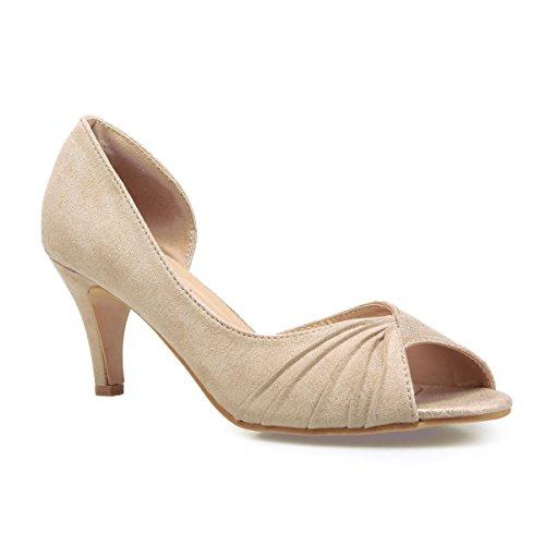 La Modeuse Beige 44807 Sintético Material De Zapatos Mujer Vestir rrT16wSaq