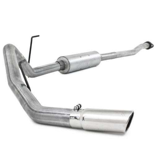Aluminized Single Exhaust System (MBRP S5210AL Aluminized Single Side Cat Back Exhaust System)