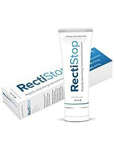 RectiStop (100 ml) - ¡Despídase de sus Hemorroides en Menos de 30 días - Prevención de las Hemorroides Externas y Almorranas! ¡Crema RectiStop es su Solución!