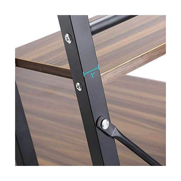 Dripex Table de Bureau avec Etagère de Rangement, Table de Travail en Bois, Bureau d'Ordinateur pour Ecole, Bureau et…