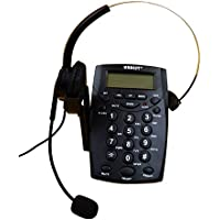 URBESTCall Center Dialpad Headset Telephone with Tone Dial Key Pad & REDIAL