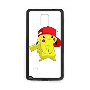 games Pokemon Pikachu White Background Samsung Galaxy Note 4 Cell Phone Case Black Customized Gift pxr006_5277097