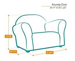 KEET Roundy Kid\'s Chair Gingham, Brown