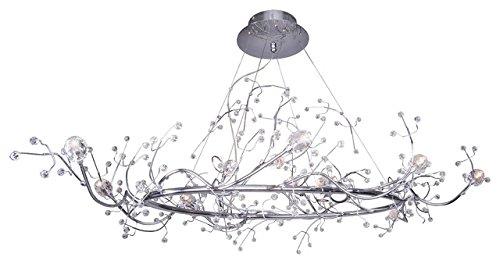 Twelve Light Ring Chandelier (43 Inch Hula Hoop Tree Like Branch Chandelier Crystal Pendant Crown of fine crystal blossoms Ring 12 Light)