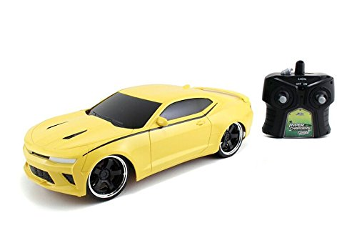 Jada Toys HyperChargers Big Time Muscle RC 2016 Camaro SS Vehicle (1/16 Scale), Yellow