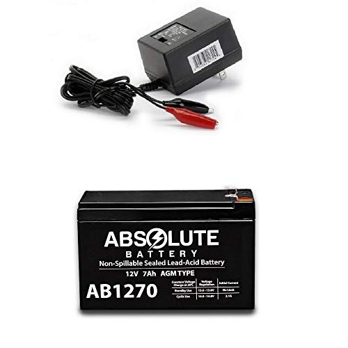New AB1270 12V 7AH Battery for iSam Tennis Ball Machine & Charger
