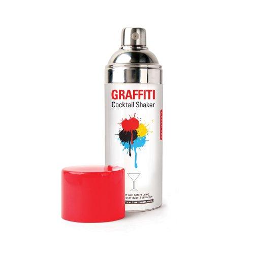 - Kikkerland Graffiti Cocktail Shaker