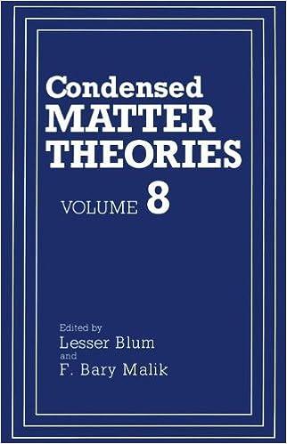 Condensed Matter Theories: Volume 8: Proceedings of an International Workshop Held in San Juan, Puerto Rico, June 1-5, 1992 v. 8 (Condensed Matter Theory)