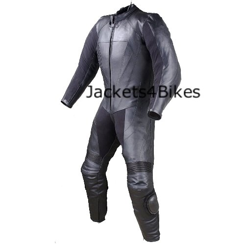 - New Men's 1PC One-Piece Armor Leather Motorcycle Racing Suit w/Hump US Size 40