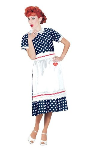 Halloween FX I Love Lucy Polka Dot Dress (Medium)