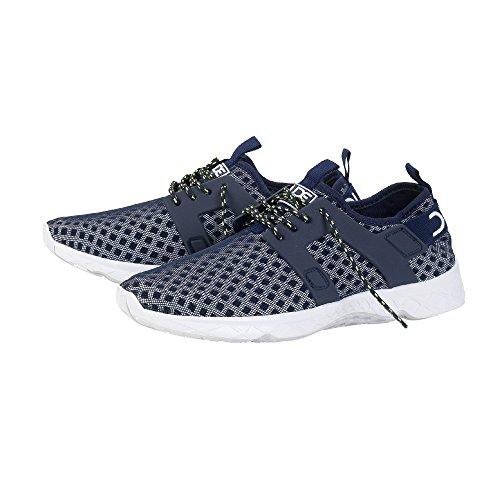Dude Shoes Men's Mistral Navy Airflow Trainer Blue