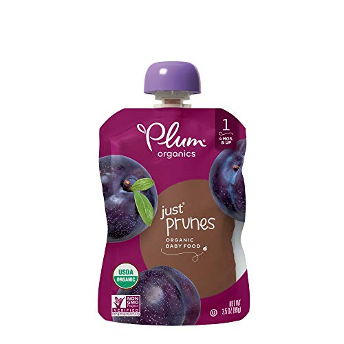 Organic Bottle Top (Plum Organics Stage 1, Organic Baby Food, Just Prunes, 3.5 ounce pouch (Pack of 12))