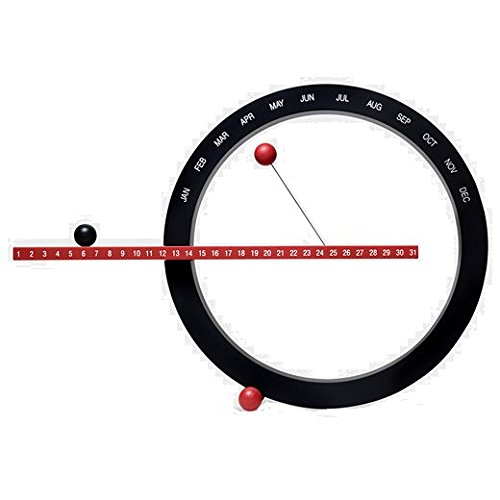 MoMA Large Perpetual Calender, Black and Red