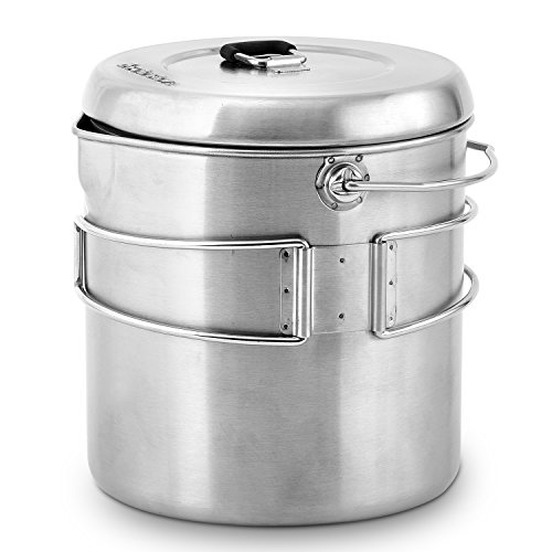 Solo Stove Pot 1800: Stainless Steel Companion Pot for Titan. Great for Backpacking, Camping, Survival by Solo Stove