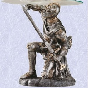 medieval coffee table gothic knight in full suite armor Digital