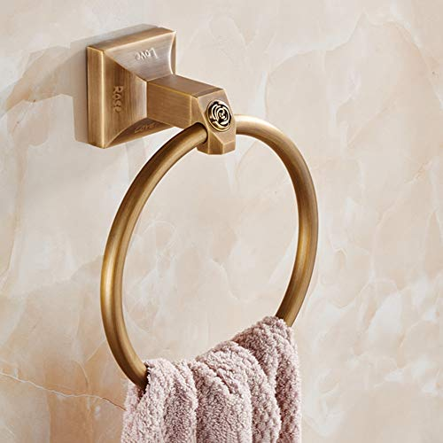 HPLL Towel Ring, Nordic-wide Copper Ring Antique Towel Rack