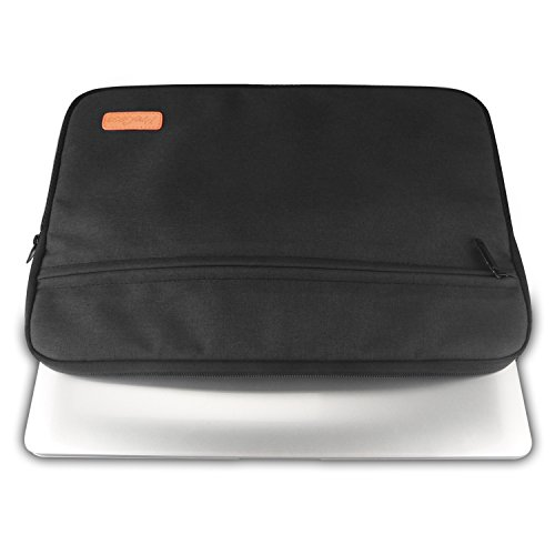 ProCase 11-12 Inch Laptop Tablet Sleeve Case Bag for 12 Inch Macbook, Surface Pro 5 4 3, iPad Pro 12.9, Most 11-12 Inch Ultrabook Netbook MacBook Chromebook -Black by ProCase (Image #3)